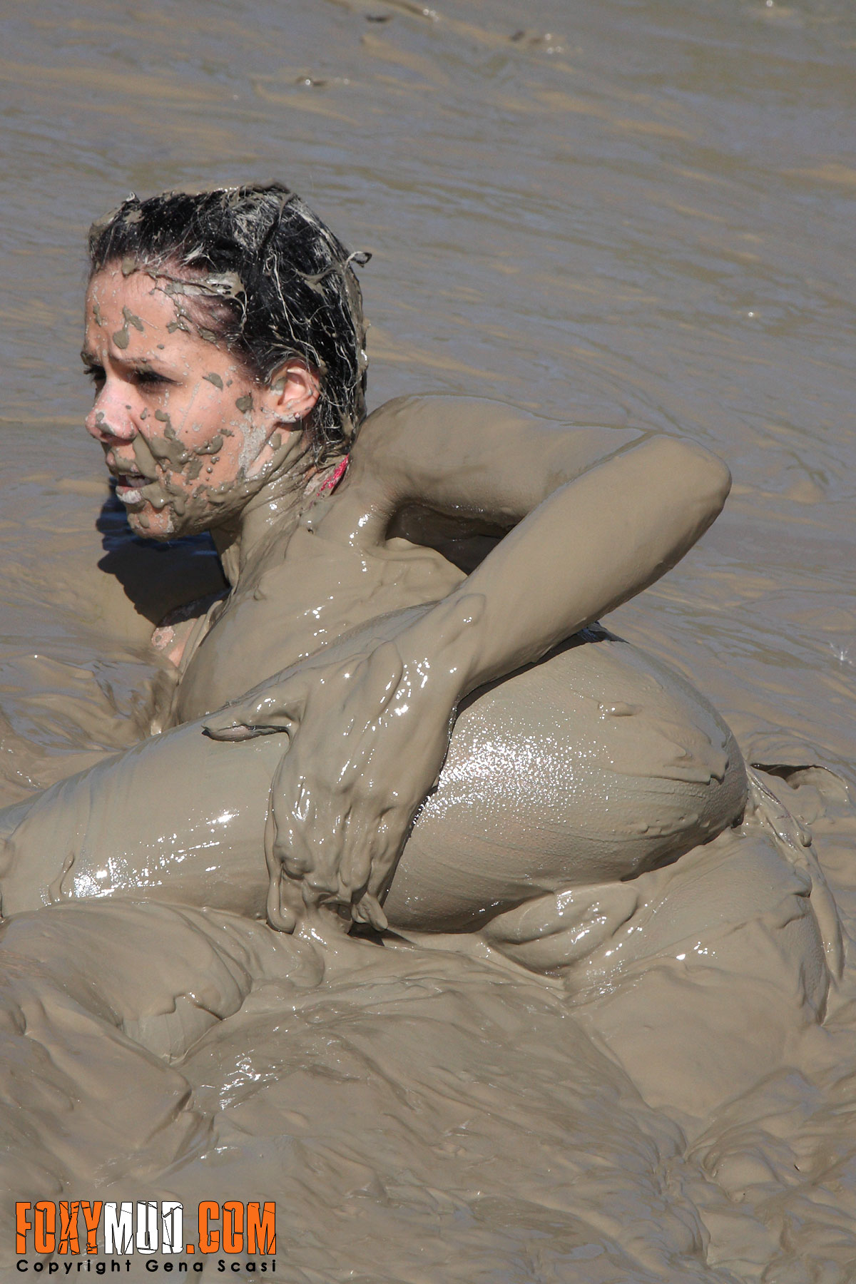 Naked girl in mud apologise, but
