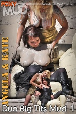 Duo big tits mud 1