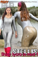 Shiny lycra in mud 1