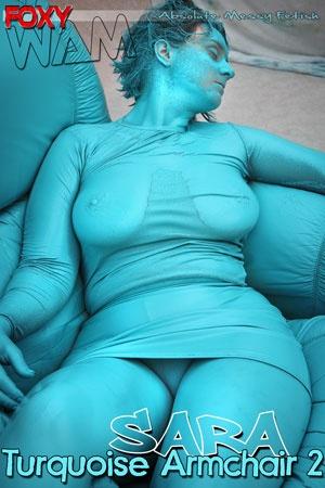 Sara - Turquoise Armchair 2