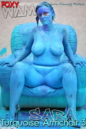 Sara - Turquoise Armchair 3